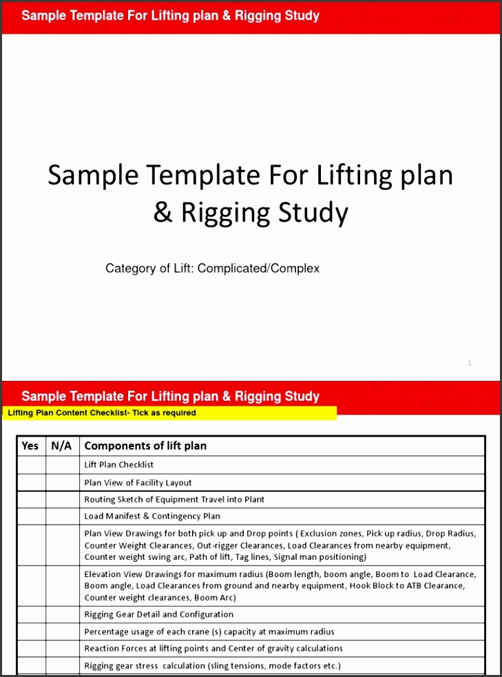 8 Lifting Plan Template Sampletemplatess Sampletemplatess
