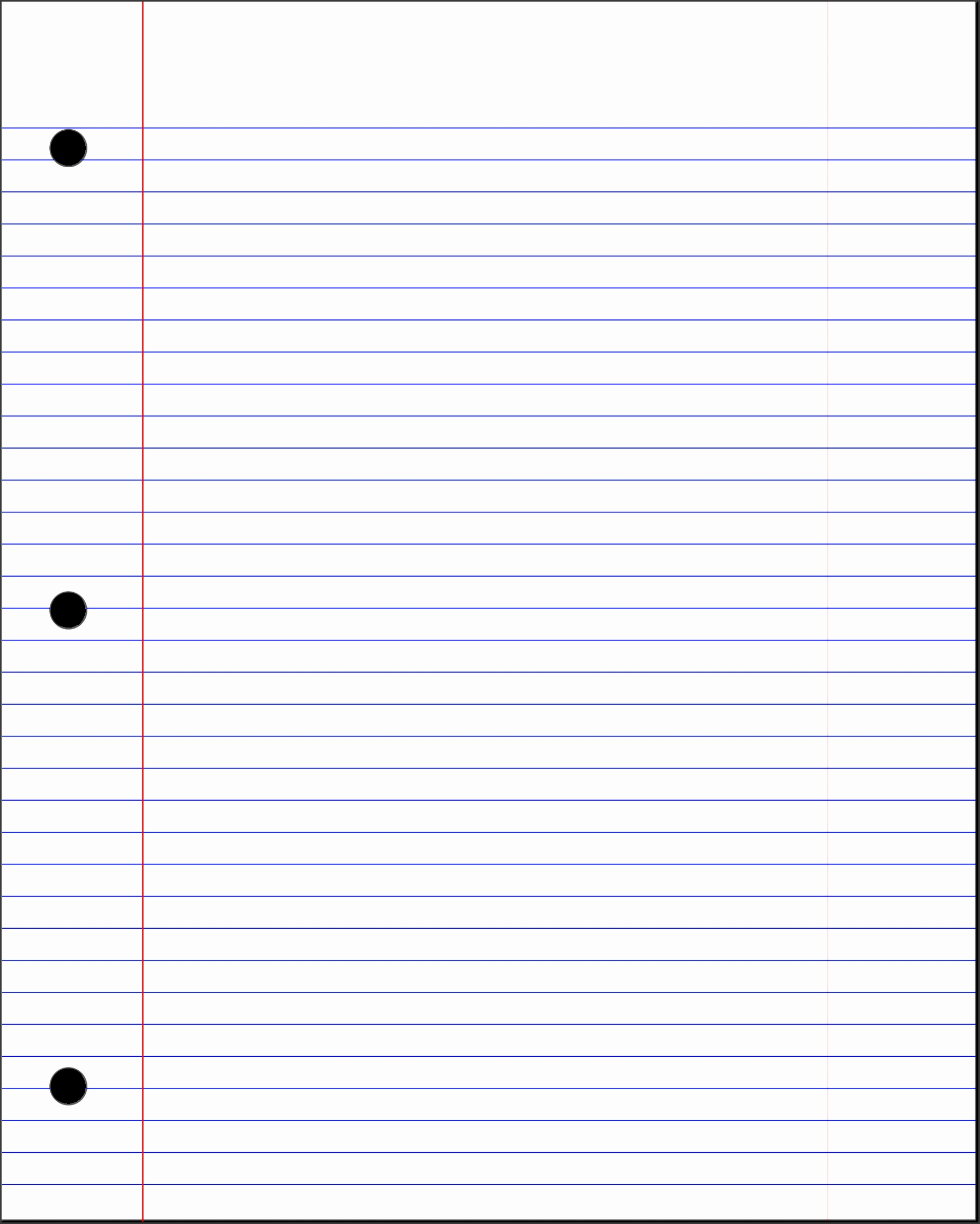 Lined Paper Template Free A4 Lined Paper Template PDF college ruled lined paper template
