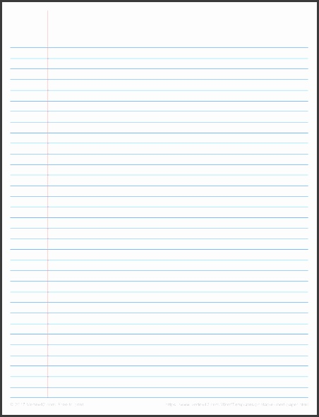 Lined Paper Template College Ruled