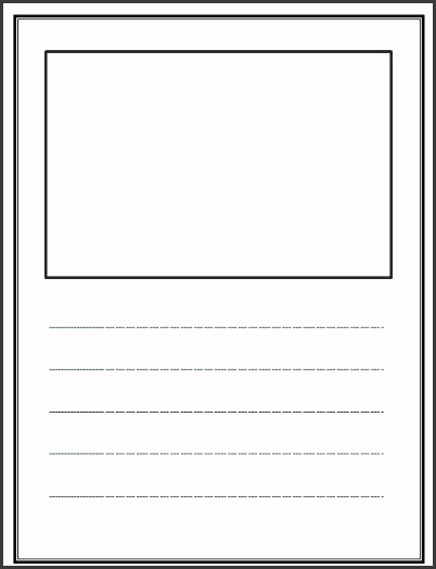 Lined Story Writing Paper Template
