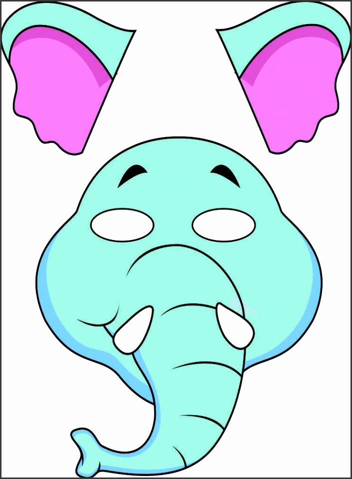 vbs jungle animal mask elephant color