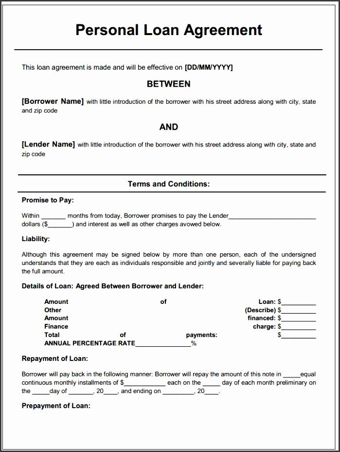 money lending agreement template free printable personal loan agreement printable agreements