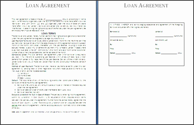 Free printable personal loan contract template Cash Advance from
