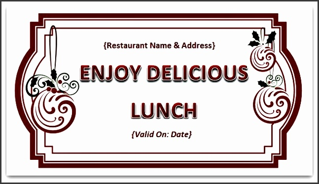 nra Lunch Voucher Template 10 Lunch voucher