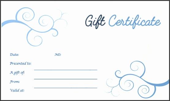 Blue Floral Design Gift Certificate