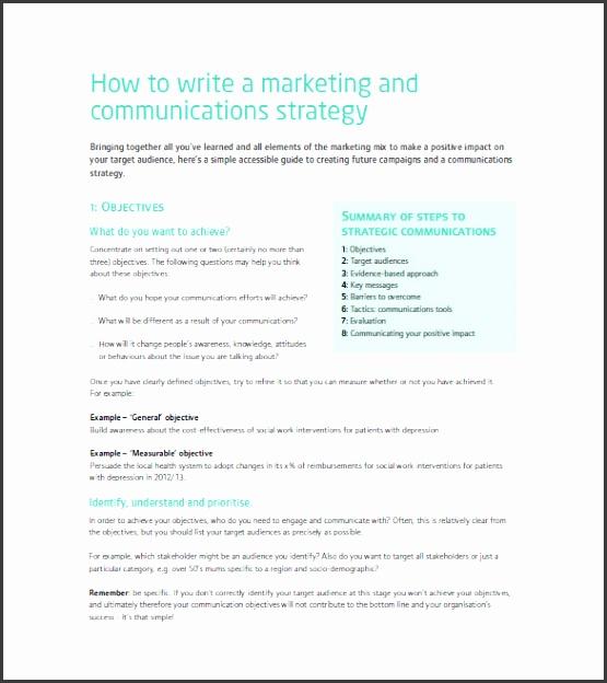 How to Write a Marketing munication Plan