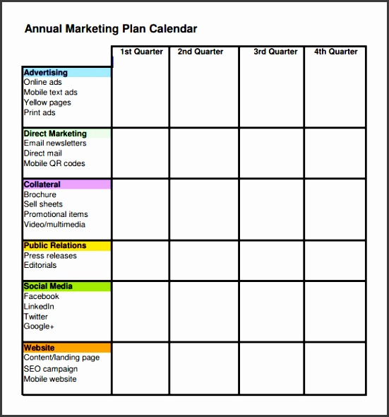 Sample Marketing Schedule Template 5 Free Documents Download In Pdf
