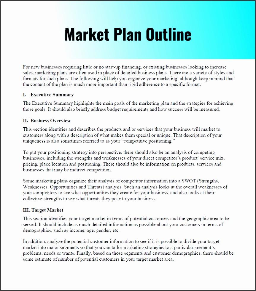Sample Marketing Planutline Pdf Examplef Business Template