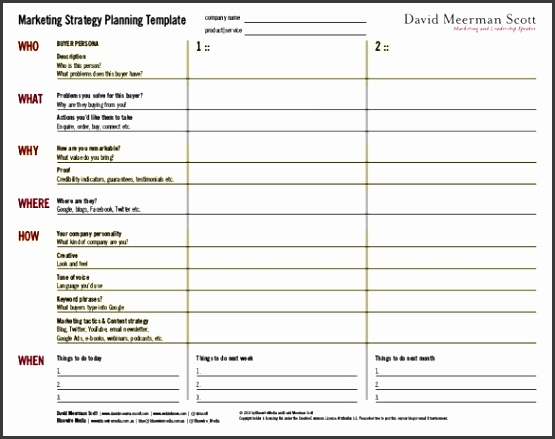Marketing Strategy Planning Template Sample PDF Format
