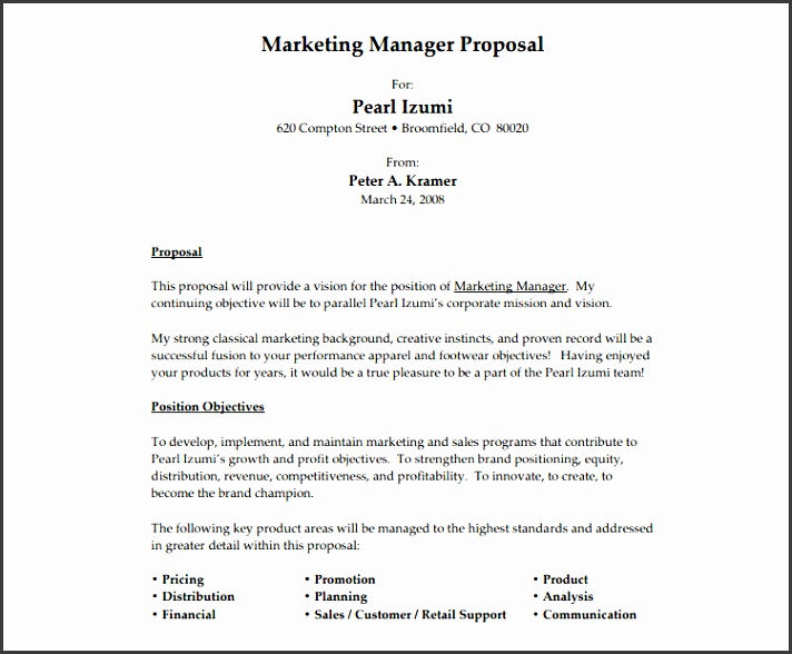 job position proposal template job proposal templates free word form documents creative template