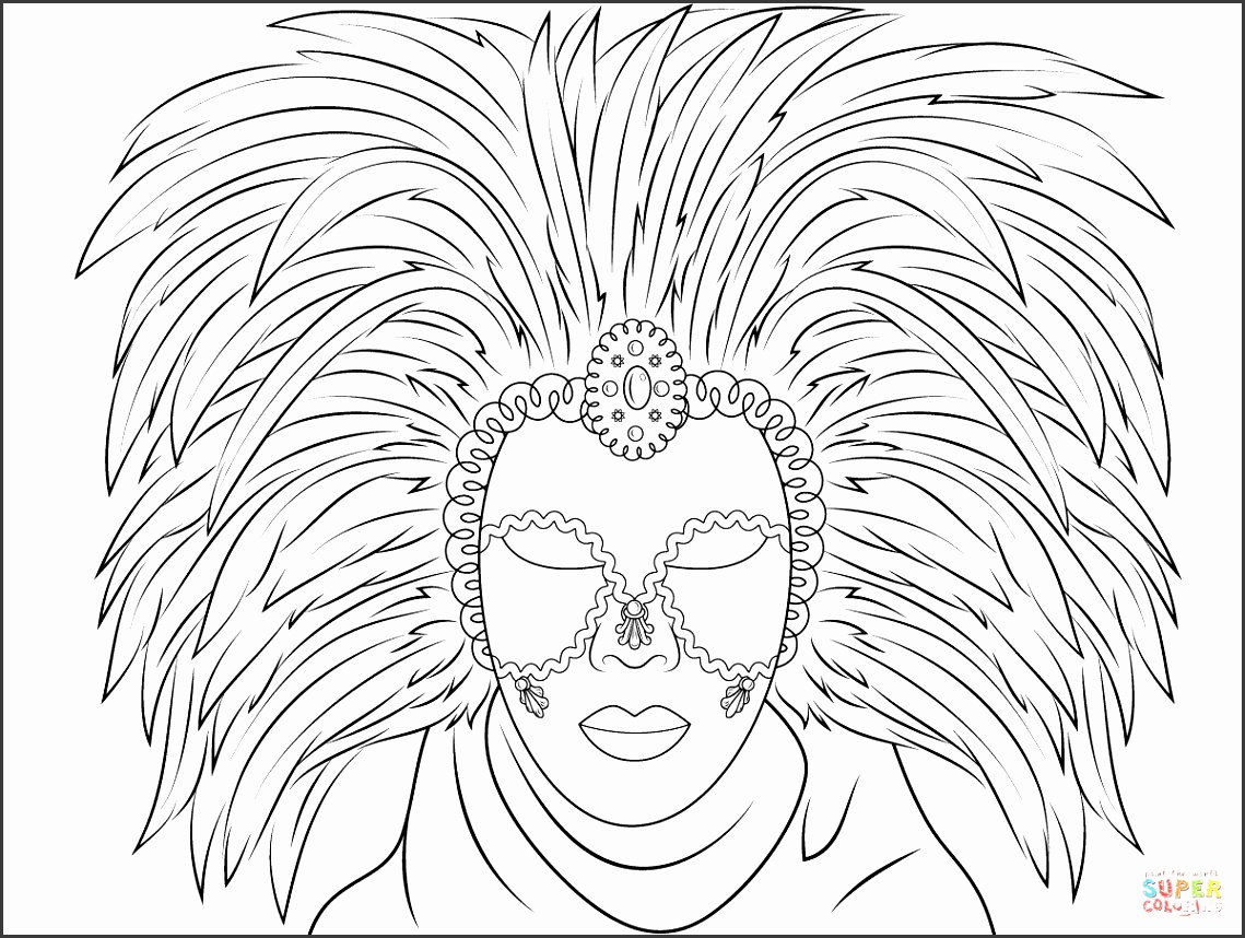 the Venetian Mask coloring pages to view printable