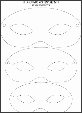 mask templates to print