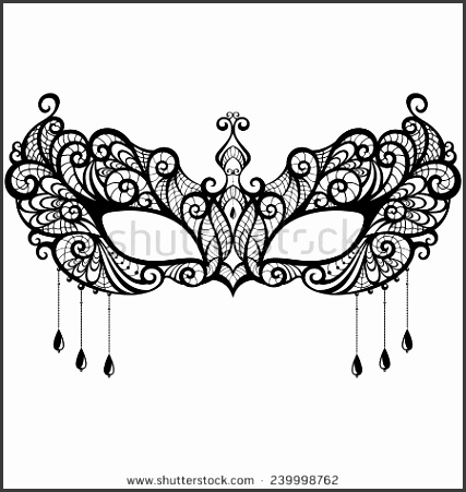 28 of Masquerade Mask Pattern Template