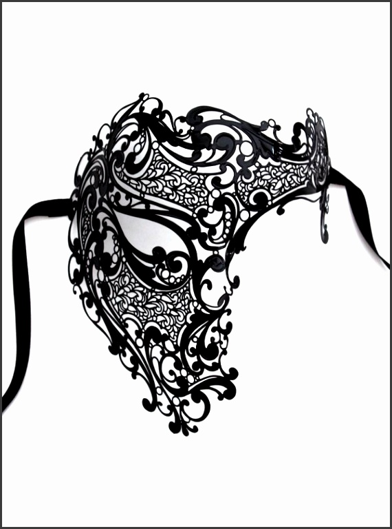 Filigree Metal Full Face Phantom of the Opera Mask