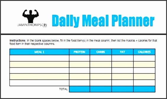 free printable meal plan template jamin thompson