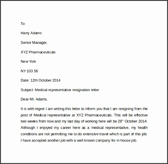 Sample Resignation Letter For Doctors Resignation Letter Template Pdf Free Download Example Resignation Letter With