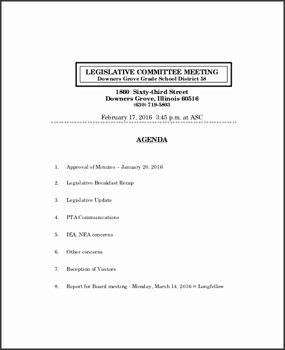 Board Meeting Agenda Template Free Word Documents