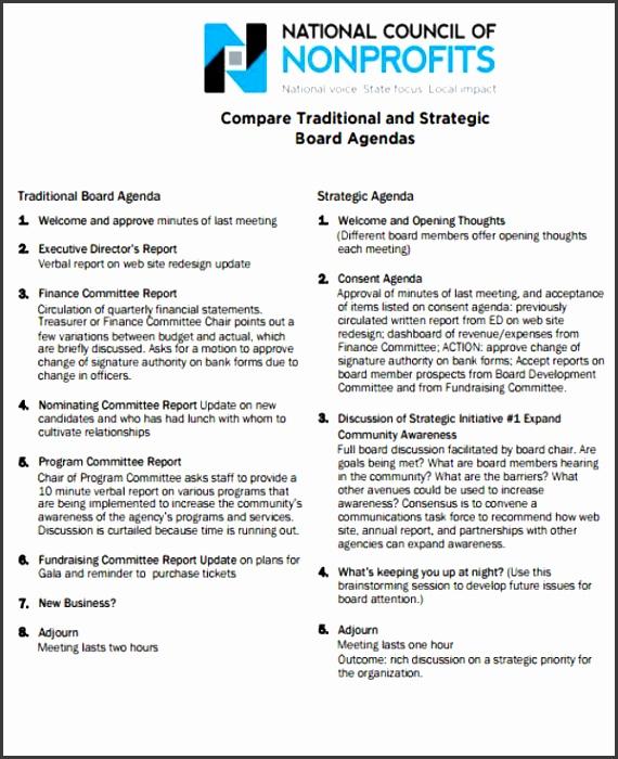 Nonprofit Board Meeting Agenda Template Board Agenda Templates 9 Free Word Pdf Format Download Free