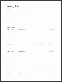 meeting minutes template 1