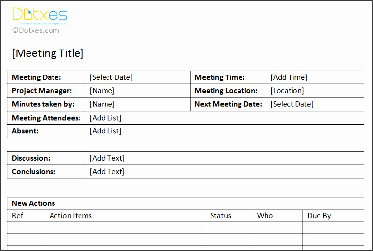 Action item meeting minutes template Featured Image