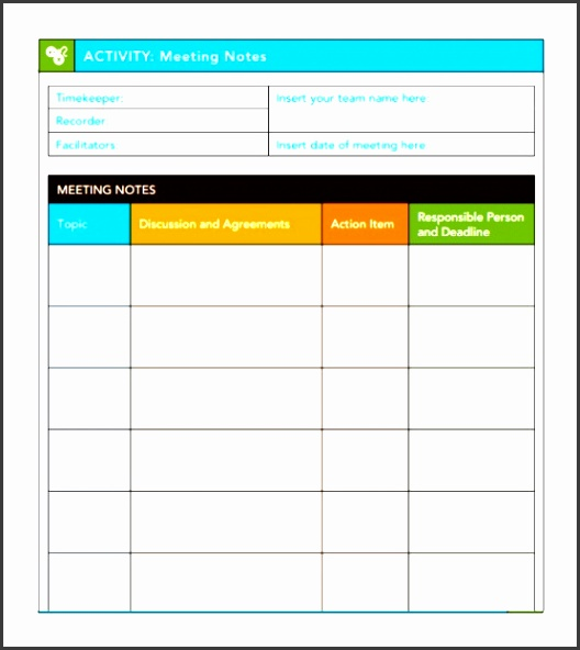 Handy Meeting Minutes & Meeting Notes Templates Ikftw Awesome Action Item Template Corolfeline