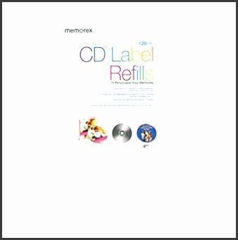 Memorex CD DVD Labels 120 Pack White