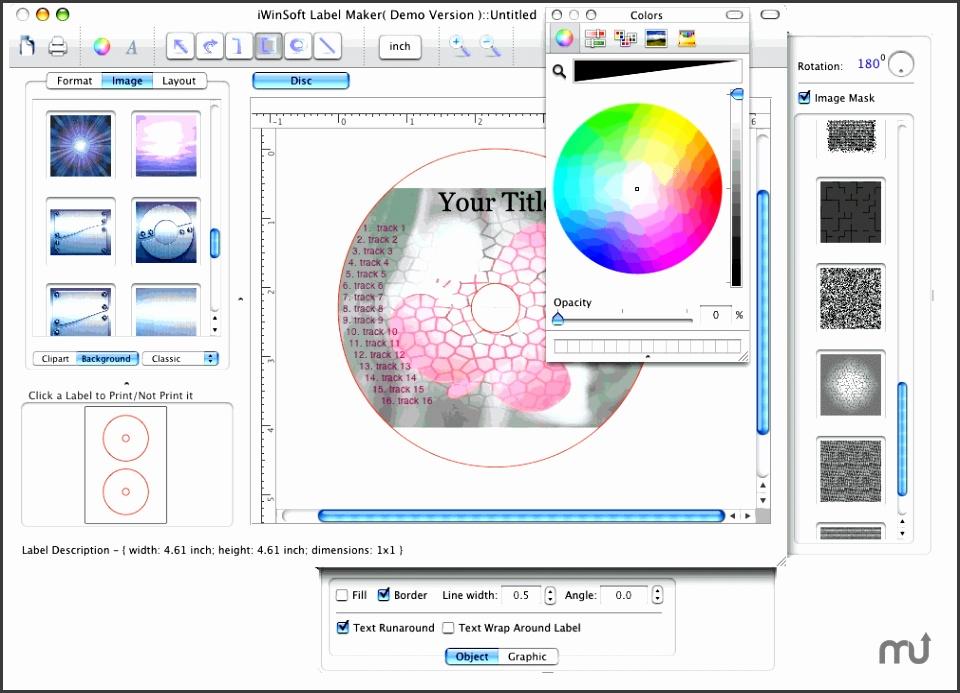 Screenshot 1 for iWinSoft CD Label Maker
