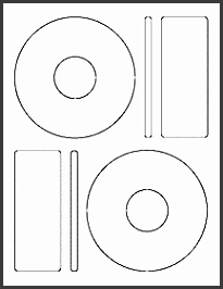 """OL5025 4 65"""" CD Blank Label Template for Microsoft Word"""