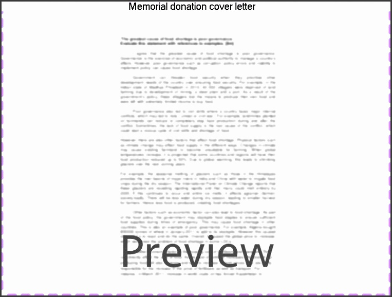 donation cover letter