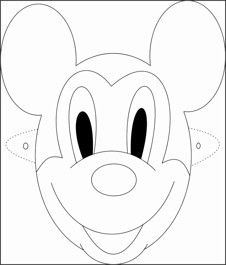 6 mickey mouse mask template sampletemplatess for Mouse mask template printable