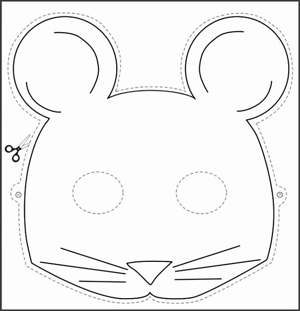 Modern Mouse Face Mask Template Vignette - Resume Ideas - namanasa.com