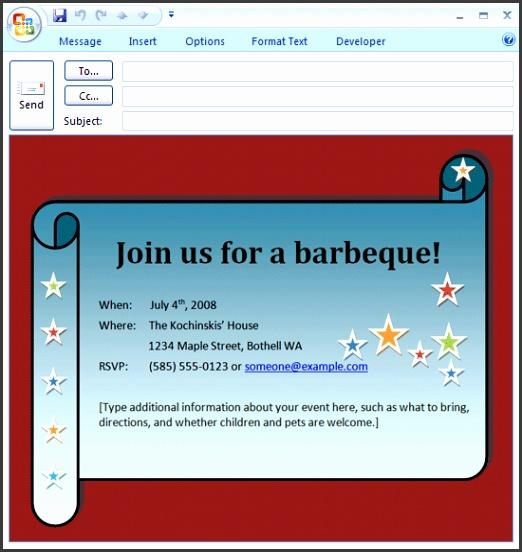 E mail BBQ invitation Printable Invitations