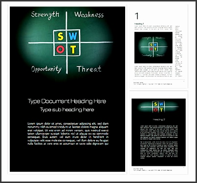 Mod¨le Word de swot analysis Consulting — PoweredTemplate