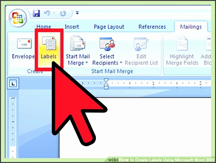 Image titled Create Labels Using Microsoft Word 2007 Step 8