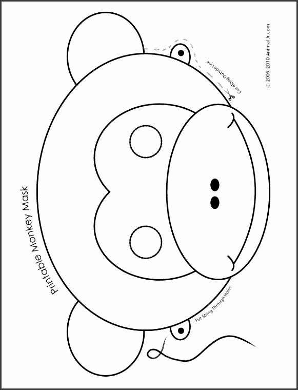 8 monkey mask template sampletemplatess sampletemplatess