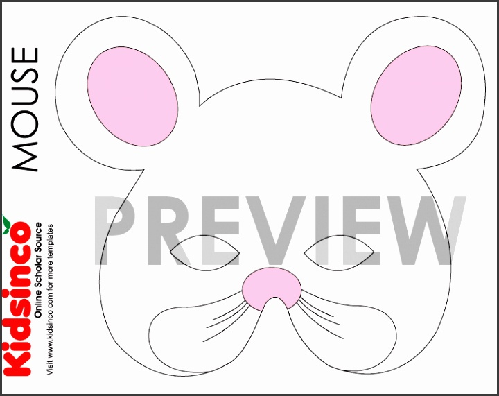 Animal masks templates k i d s i n co free playscripts for mouse pronofoot35fo Gallery