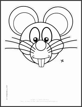 Mouse Mask to Color Printable Mask