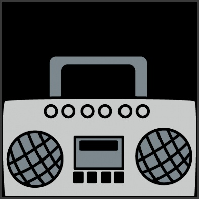 radio clip art boombox with music notes clip art boombox with music notes image templates