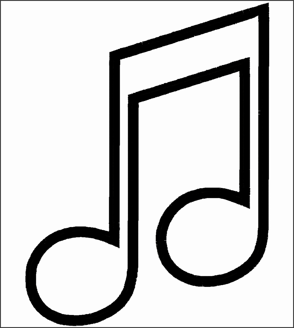 Music Note Template Ideas Medium size Music Note Template Ideas size