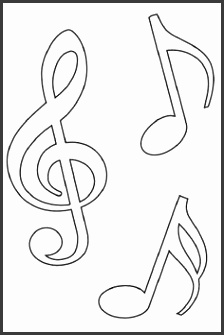 Music Notes Templates for most craft projects I was thinking embroidery Polymer clay jewelry molds designs wall decals