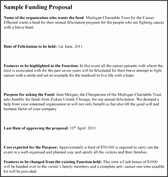 Ngo Proposal Template Funding Proposal Template