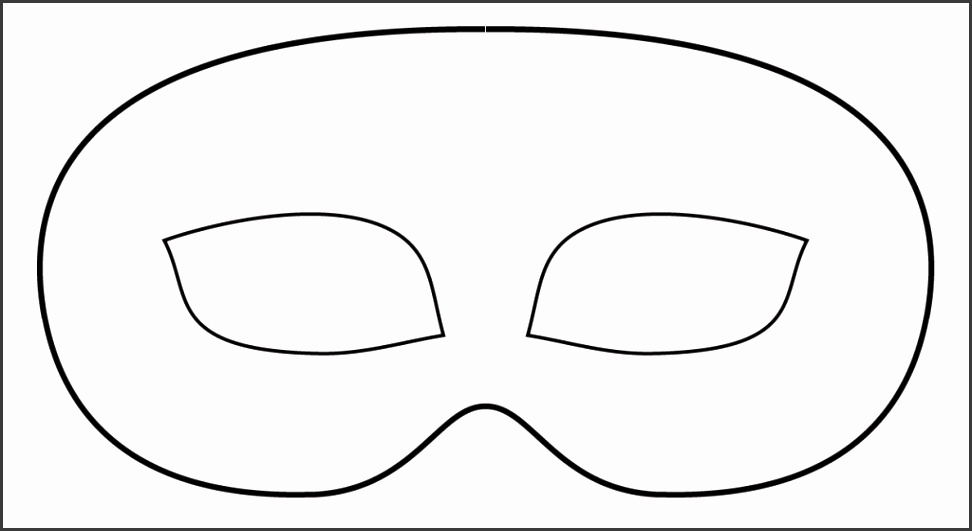 bandit mask and eyes clipart 7
