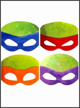 Teenage Mutant Ninja Turtle party masks – Just Party Supplies