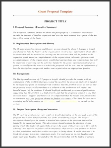 non profit proposal template How To Write Grants For Nonprofit OrganizationsWritings and Papers