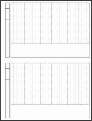 Longer topbinding template