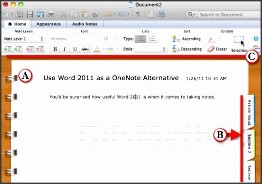 7 notebook word template - sampletemplatess