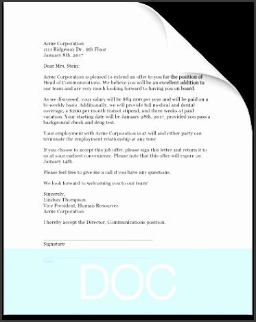 fer letter template
