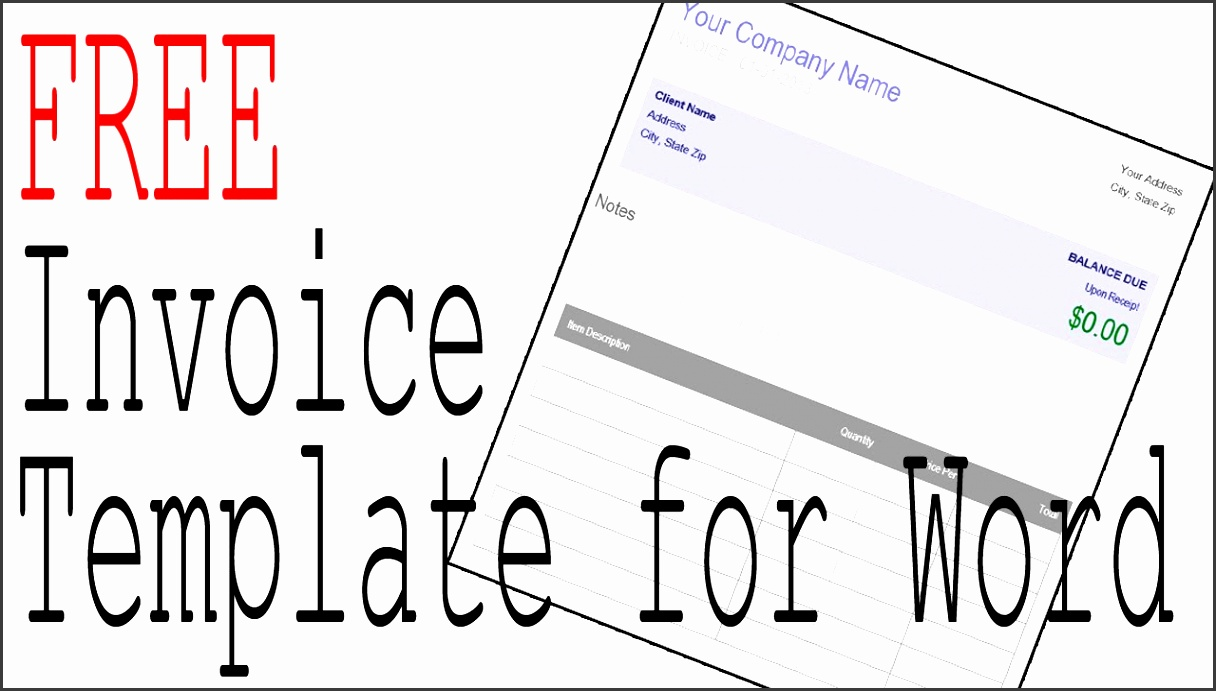 Free Invoice Template Word and fice patible Software Manage Your Taxes
