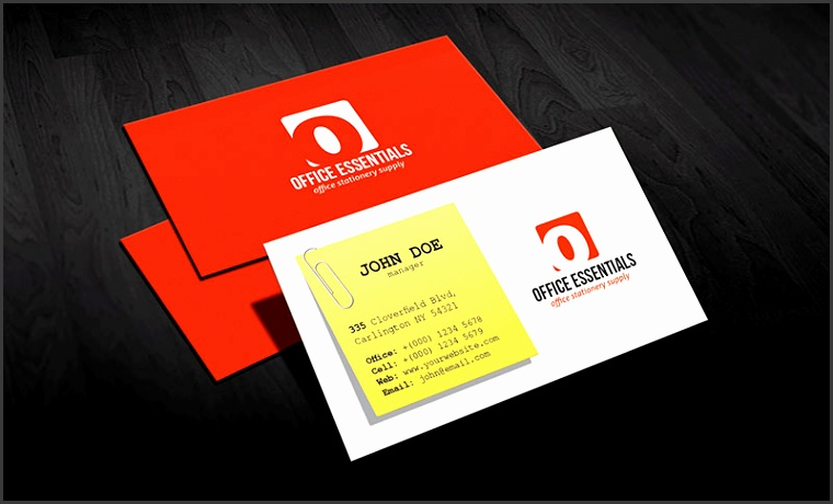 business card office template creative office supplies business card template free