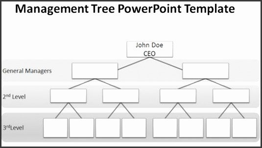 organization chart template blank organizational chart for PowerPoint presentations